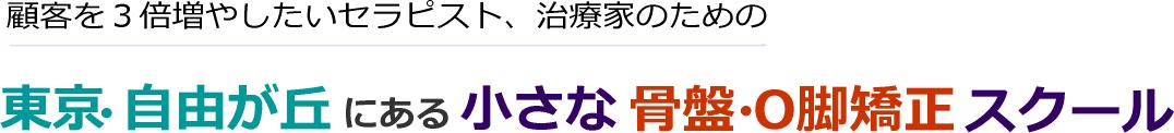 1日で骨盤矯正・O脚矯正法が習得できる!東京・自由が丘にある小さな骨盤・O脚矯正法学校・スクール